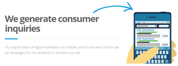 Datalot Call Lead Process - Generating Consumer Prospects