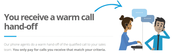 Datalot Call Lead Process - Warm Call Transfer